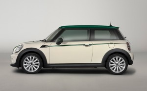 2013 Mini Cooper 31 mpg combined city/highway image courtesy of BMW
