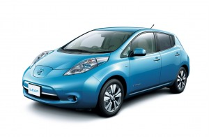 Nissan Leaf Electric, 73 miles on a charge image courtesy of Cars Bikes and Trucks